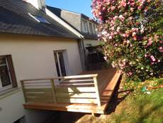 Contruction de terrasse en bois